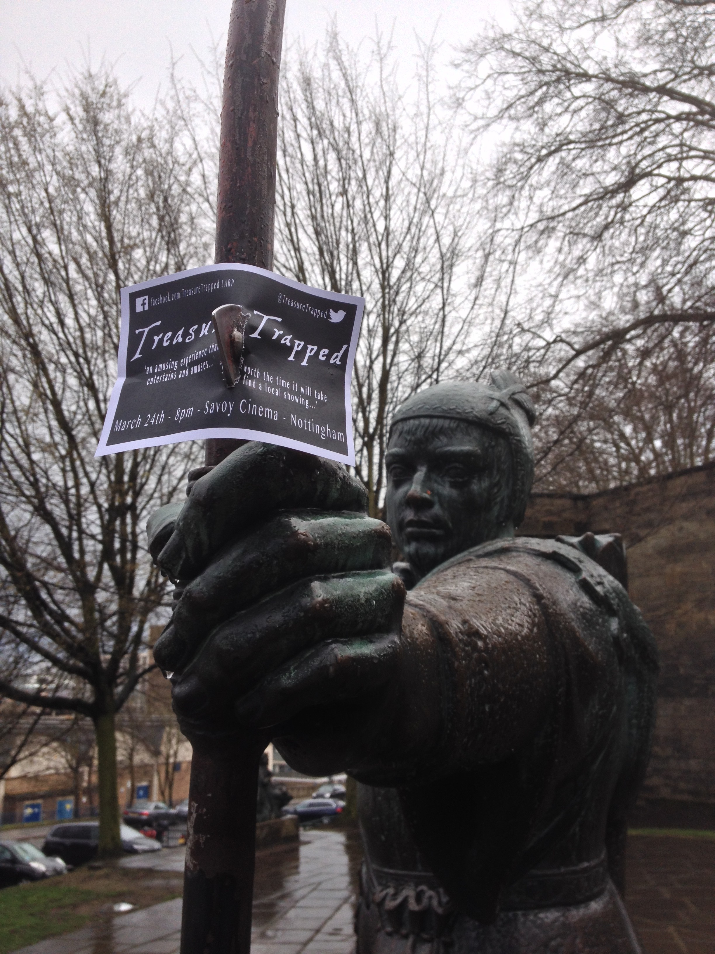 Picture of Robin Hood for Indie Film Distribution: Treasure Trapped Nottingham blog